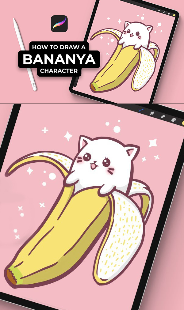 How To Draw A Banana Style Character In Procreate