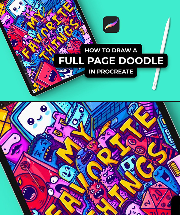 How To Draw A Full Page Doodle In Procreate (A Beginner's Guide)