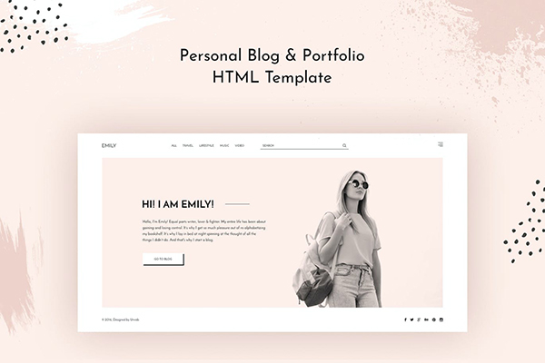 Emily - Personal Blog HTML Template