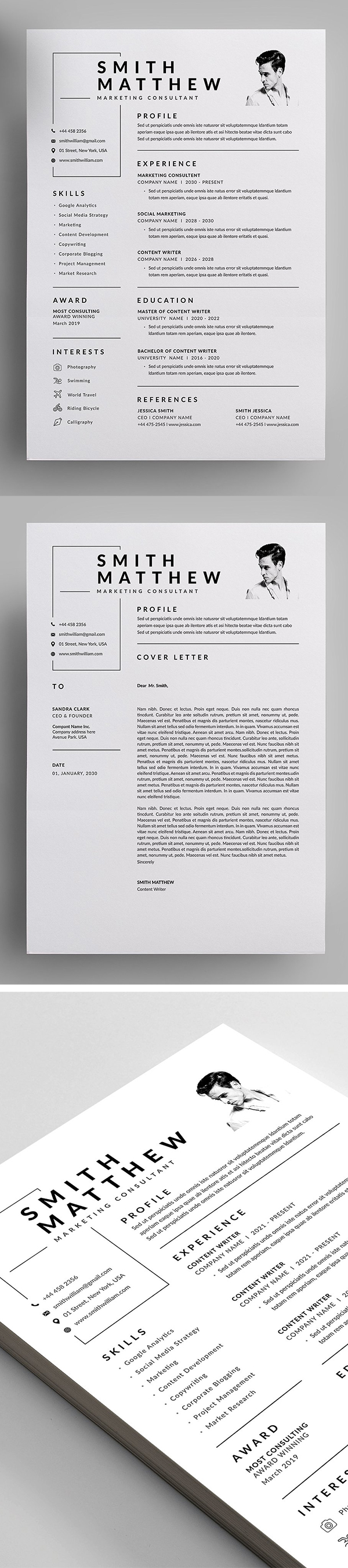 Professional Resume and Letterhead