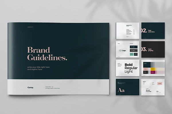 Black and Green Brand Guideline Brochure
