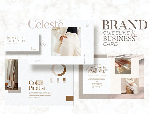 Brand Guideline and Business Card Celeste