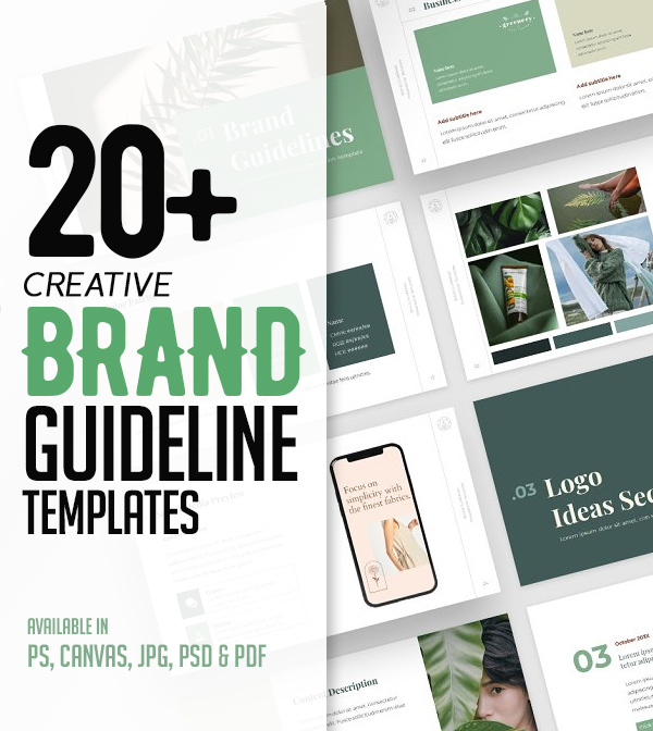 Creative Brand Guidelines Templates For Presentation