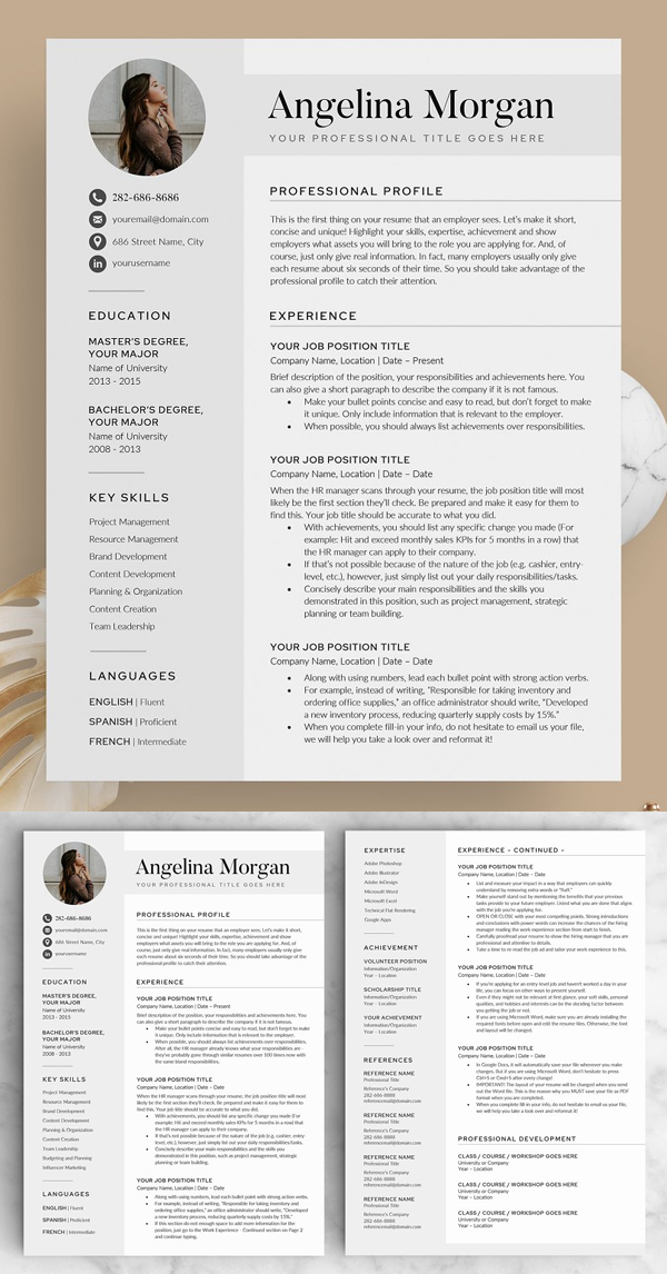 The Angel Resume Template
