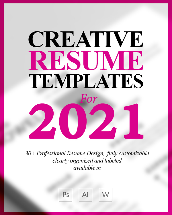 30+ New Creative Resume Templates with Cover Letter