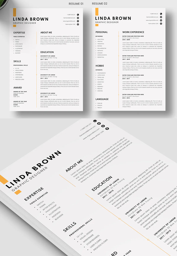 Awesome CV Resume Template