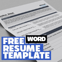 Post thumbnail of Free Word Resume Template with Cover Letter