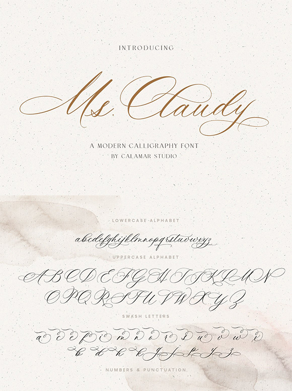 Ms Claudy Wedding Calligraphy Font
