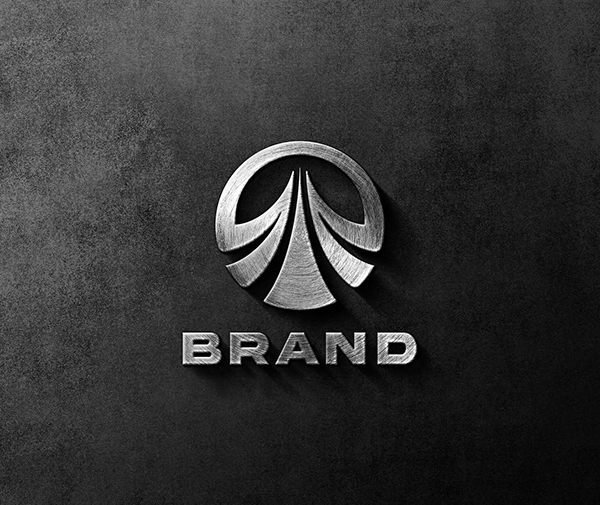 Logo Mockup with 3D Effect