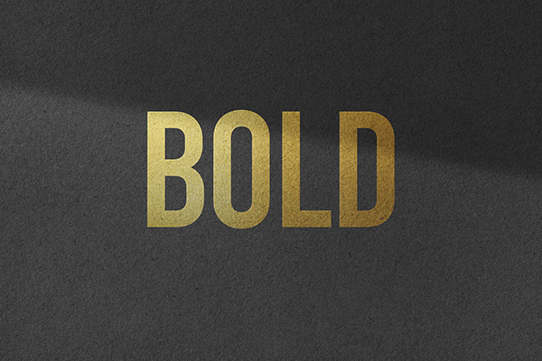 Logo Mockup with Gold Effect