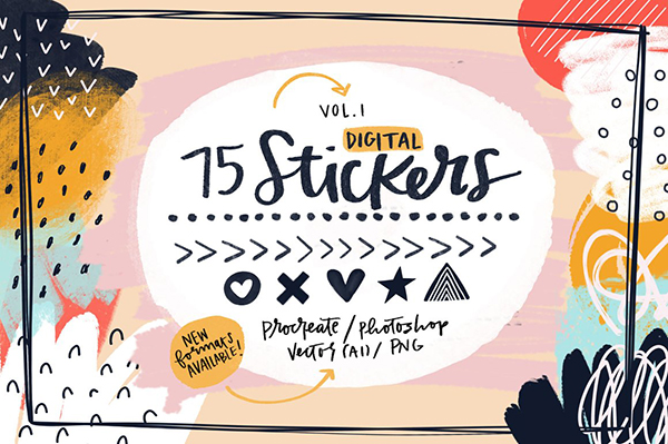 Brush Stamp Stickers For Procreate