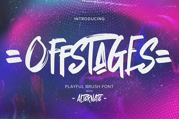 Offstages Strong Brush Script
