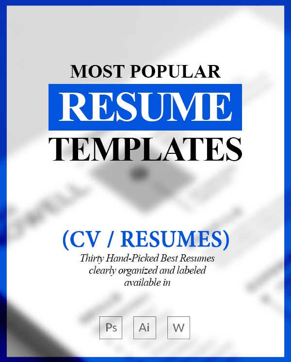 Most Popular Resume Templates (30 Best Resumes)