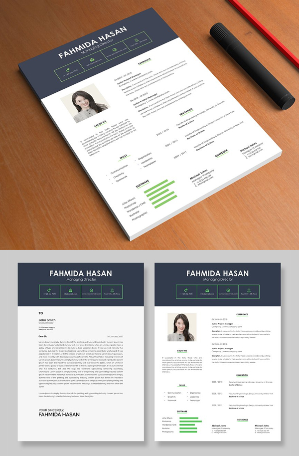 PSD Resume & Cover Letter Templates