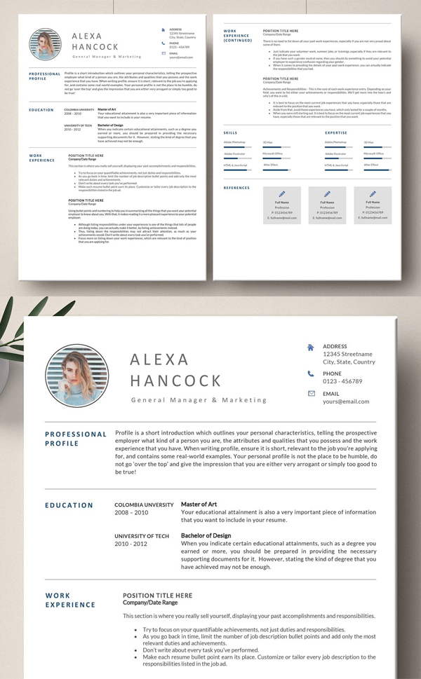 Attractive Word Resume Template