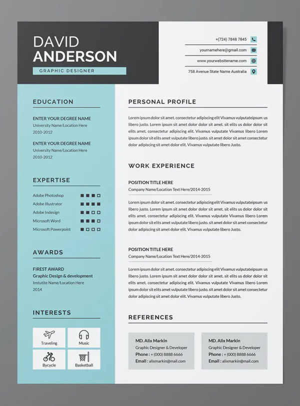 Creative Resume / CV Template 2Pages
