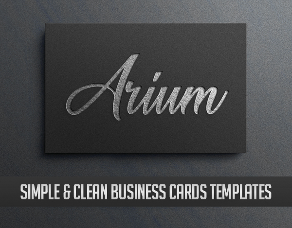 Clean and Minimal Business Cards Templates (28 Stand Out Designs)