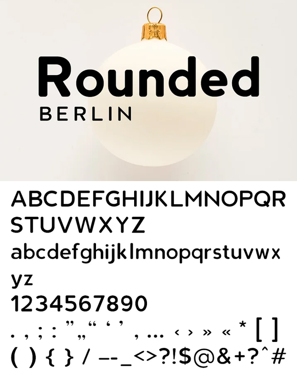 Berline Rounded Font