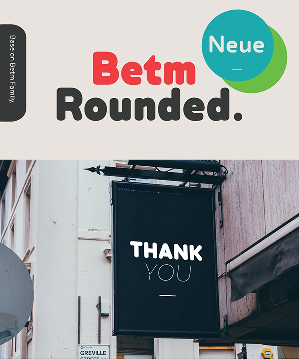 Betm Rounded Font