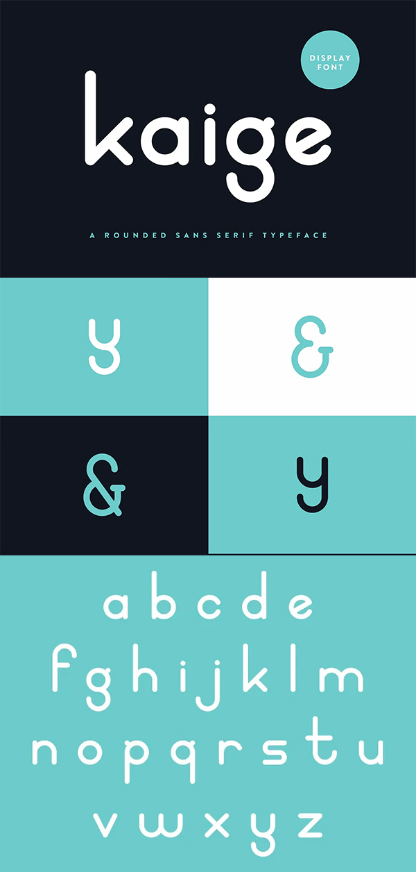 Kaige Display Rounded Font