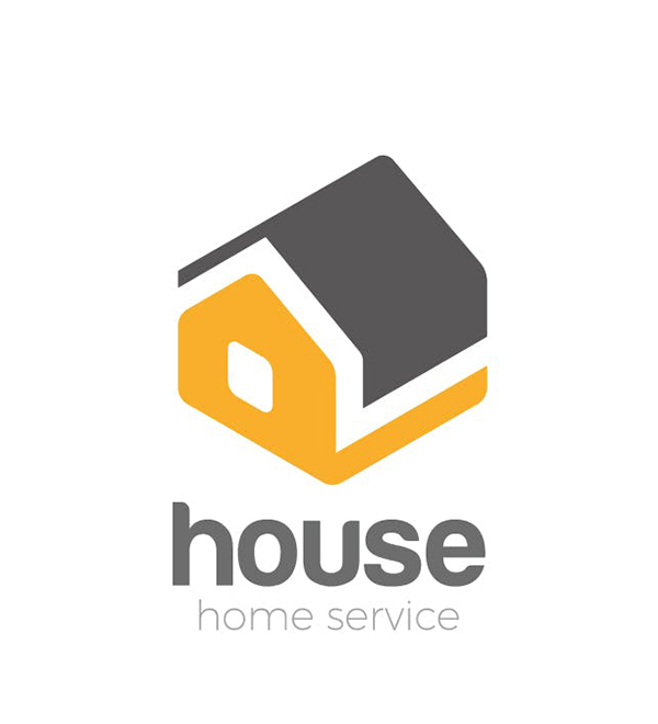 Logo House isometric abstract Household services
