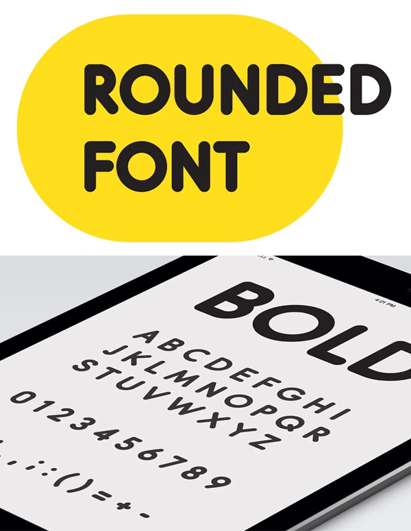 Modern Rounded Font