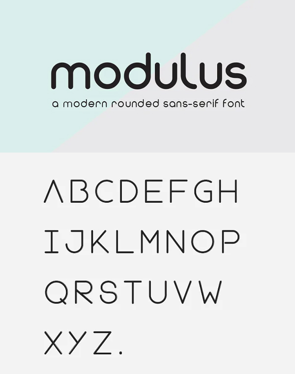 Modulus Rounded Font