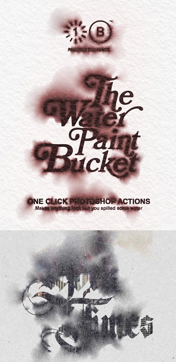 The Water Paint Bucket Photoshop Action