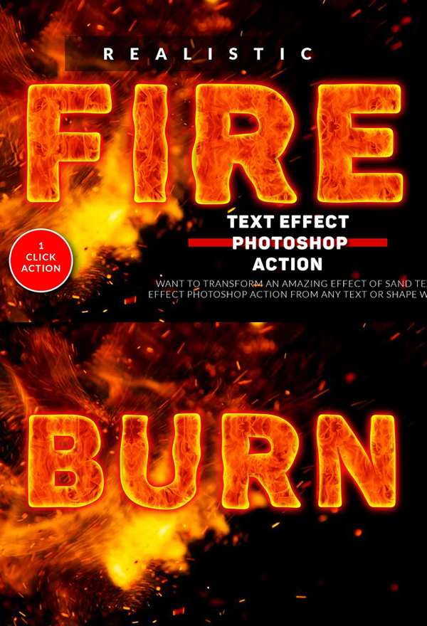 Fire Text Effect Photoshop Action