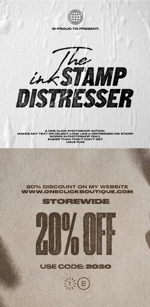 The Ink Stamp Distresser - One Click