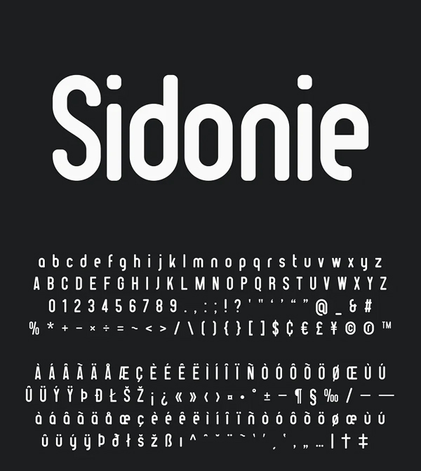 Sidonie Sans Rounded Font