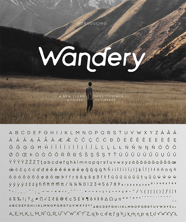 Wandery Modern Rounded Font