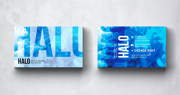 Halo Photography Business Card Design