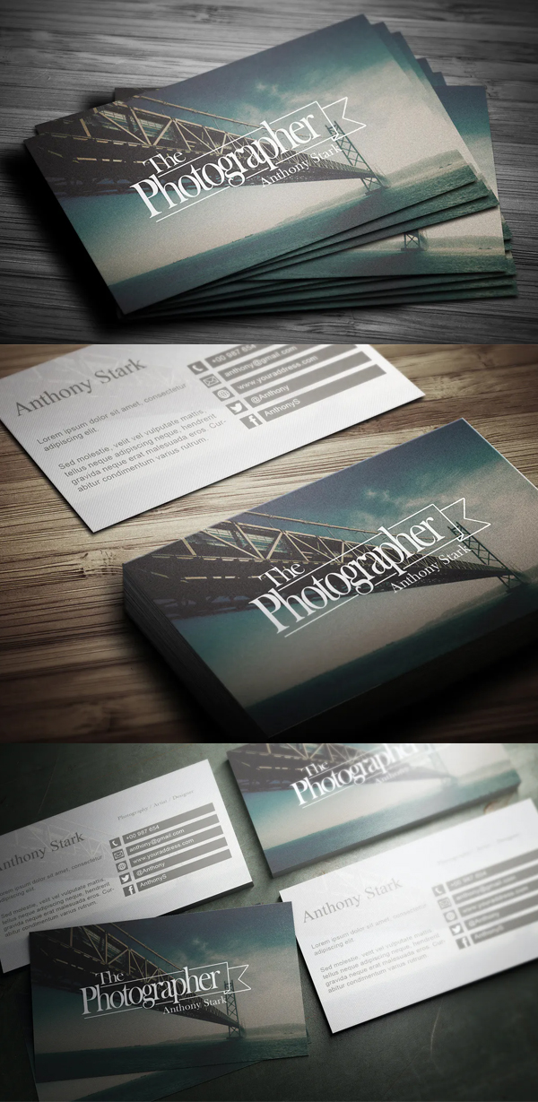 Trendy Photography Business Card Design