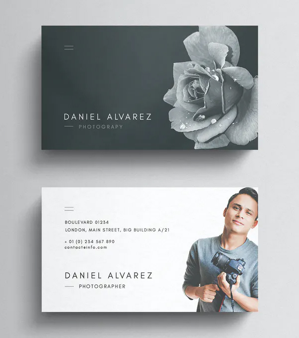 Unique Photography Business Card Template