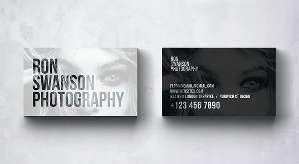 Ron Photography Business Card Design